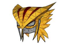 DC Comics - Hawkgirl's Helmet Ver.2 Free Papercraft Download - http://www.papercraftsquare.com/dc-comics-hawkgirls-helmet-ver-2-free-papercraft-download.html#DCComics, #Hawkgirl, #Helmet