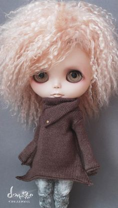 dollmofee creations B506 sweater - cocoa color for Blythe