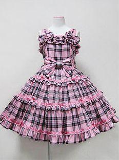 Angelic Pretty / Jumper Skirt / Wonder Trip Tartan JSK// @Rosita Cortes Gomez
