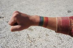 Just 6 colour stripes symbolizing full tolerance and an imagination. Done by Tattoo Wolf in Poland. Enjoy!