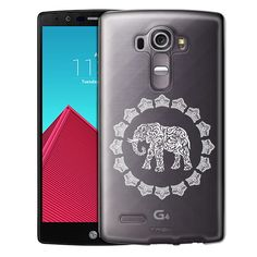 LG G4 White Lace Elephant Case