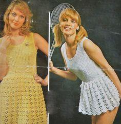 PDF crochet mini dress sleeveless vintage crochet pattern pdf instant download pattern only pdf 1970s