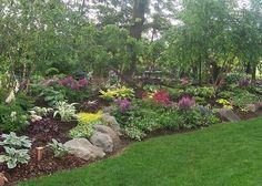 sloped shade perennial back yard | Found on flickriver.com