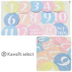 月齢ステッカーbaby color virsion by kawaiit select ベビー・キッズ その他