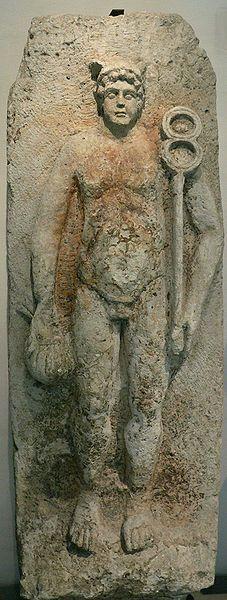 Lutèce (Paris à l'époque gallo-romaine) Statue de Mercure - époque gallo-romaine - trouvée à l'Hôtel-Dieu en 1867 - Hôtel-Dieu Paris