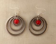 Circle earring by CareliusCrafts on Etsy