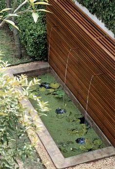Água no jardim - Casa