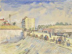 Poort in de verdedigingswerken van Parijs, 1887, Vincent van Gogh, Van Gogh Museum, Amsterdam (Vincent van Gogh Stichting)