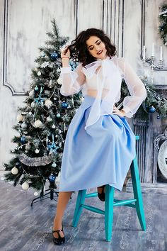 Get this look: http://lb.nu/look/8495179  More looks by Katerina Lozovaya: http://lb.nu/casakaterina  Items in this look:  Likemammy Skirt, Likemammy Blouse   #artistic #chic #retro #ootd #midi #skirt #cool #blogger #fashionista