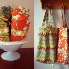 Roll-Up Fabric Tote Bag {Tutorial}
