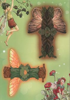 FLOWER FAIRY PAPER DOLLS -  published by Penguin Group in 2005 (14 of 18)  Source:  Miss Missy