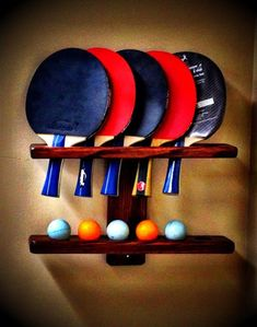 The ping pong rack