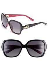 Christian Dior 57mm Polarized Sunglasses