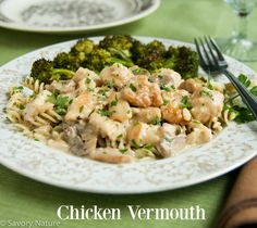 Do you have favorite recipes that are so easy to make and taste so good? This succulent Chicken Vermouth is that type of recipe! Pasta Recipes, Chicken Recipes, Gluten Free Noodles, Allergy Free Recipes, Chicken Broccoli, Food Allergies, Favorite Recipes, Ethnic Recipes