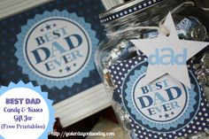 Printable Father's Day Art and labels, add some chocolate and make a wonderful gift for Father's Day.