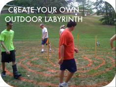 Create your own outdoor labyrinth