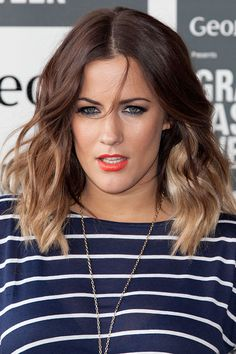 Caroline Flack's ombre waves - celebrity hair and hairstyles