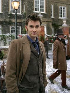 Did you know that in Doctor Who, the Doctor's bow tie is red if the episode takes place in the future, and blue if it is in the past? (It's true for the tenth Doctor too. His suit was blue if they went forward in time and the brown if they went back in time.) Huh...I'll have to verify that...