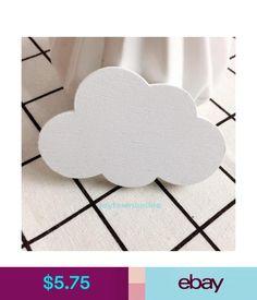 Home Organisation 3D Cloud Wooden Hook Children Kids Room Home Diy Wall Decor Craft Gifts #ebay #Home & Garden