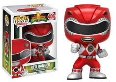 Funko POP Television: Power Rangers Action Figure From Power Rangers, Red Ranger, as a stylized POP vinyl from Funko Stylized collectable stands 3 ¾ inches tall New Power Rangers, Power Ranger Party, Mighty Morphin Power Rangers, Pop Vinyl Figures, Funko Pop Figures, Figurines D'action, Thundercats, Otaku, Dragon Shield