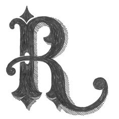 R - 25/365   by Grayson Stallings #dropcap #typography #dailydrawing #letter #letterart #lettering #pen #drawing