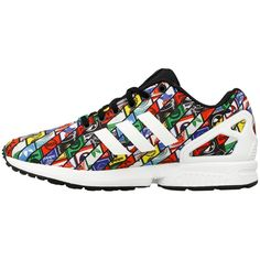 a7f4cdf2d Adidas ZX FLuxus Originals Multicolor Tongue Labels AOP Herren Gehen Schuhe…