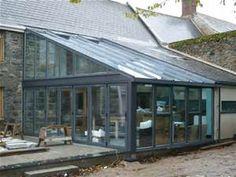 Bespoke Grey Aluminium Lean To Conservatory