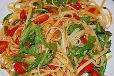Pasta mit Tomaten und Rucola, ein leckeres Rezept aus der Kategorie Gemüse. Bewertungen: 37. Durchschnitt: Ø 4,4.