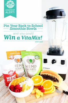 Don't forget to enter our Back to School Smoothie Bowls Pin to Win Contest! You could win a VitaMix and a one-month supply of Manitoba Harvest products! Hurry, contest ends on September Good luck! How To Make Smoothies, Smoothies For Kids, Vegan Smoothies, Yummy Smoothies, Hemp Recipe, Best Smoothie Recipes, Most Delicious Recipe, Vitamix 500, Smoothie Bowl