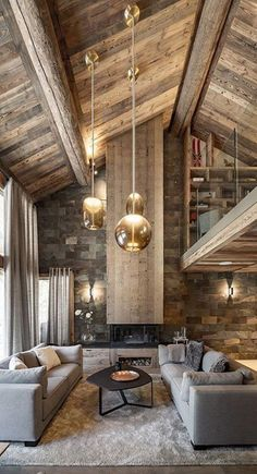 Cabin Homes, Log Homes, Chalet Chic, Chalet Interior, Chalet Design, Interior Decorating, Interior Design, Winter House, Rustic Interiors