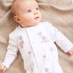 Jemima Puddle-Duck Embroidered Sleepsuit | JoJo Maman Bebe