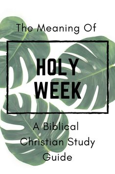 What is Holy Week? Why is this important for Christians outside the Resurrection? I am sharing a study guide to help break it all down for you. Youth Bible Study, Bible Study Tools, What Is Holy Week, Holy Week Days, Holy Week Activities, Church Activities, Holy Monday, Easter Devotions, Holy Week Prayer