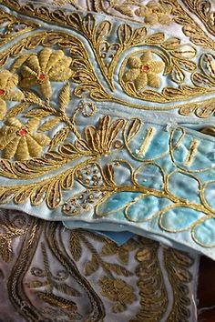 Clothing from Court embroidery detail.