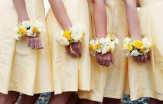 Yellow Summer Wrist Corsages - on Praise Wedding's blog post Creative Wrist Corsage