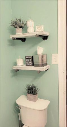 Handmade Rustic Shabby White Floating Shelves Industrial Steel Pipe Supports Home Bathroom Decor – Bathroom White Floating Shelves, Solid Wood Shelves, Cheap Bathrooms, Small Bathrooms, Master Bathrooms, Marble Bathrooms, Luxurious Bathrooms, Master Baths, Decorative Storage