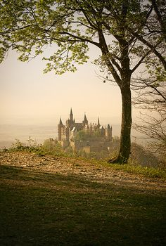 Burg Hohenzollern, Germany. ha,, first glance and i saw hogwarts. i still think it looks like it.