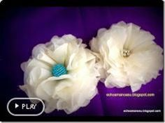 Very Easy Fabric Flower by manualidadessu's channel
