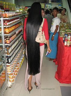 {Grow Lust Worthy Hair FASTER Naturally}>>> www.HairTriggerr.com <<<      In A Lot of Cultures, Hair is a Symbol of Wealth & Social Status....On a Side Note....Can You Imagine How Many Bottles Of Conditioner She Has to Use!!!...lol