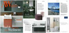 AYTM's Stilla pouf and Globe vase featured in Architektur&Wohnen, January Studio, Bad, Globe, Blogging, This Is Us, January, Architecture, Study, Balloon