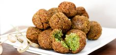 Homemade falafel.  These can be baked as well at 400 degrees for 15-20 minutes.