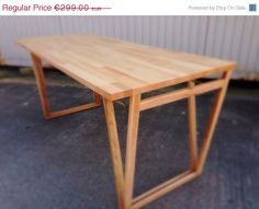 Beautiful and Original Beech Desk Table.    This is a made-to-order Double-V Beech Desk. The simple yet effective design allows the table to make a
