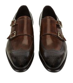Santoni Carter Wingcap Monk Shoe