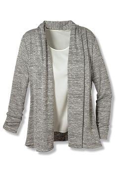 Silver Soft Drape Cardigan