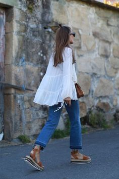 All Things Lovely In This Summer Outfit. Definitely Must Have One. - Street Fashion, Casual Style, Latest Fashion Trends - Street Style and Casual Fashion Trends Mode Outfits, Casual Outfits, Fashion Outfits, Fashion Trends, Casual Clothes, Stylish Clothes, Dress Fashion, Fashion Clothes, Latest Fashion