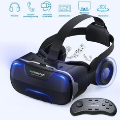 e08f8476e30 Eleovo 3D  VRHeadset With Remote Controller Large Viewing Experience   VirtualReality Glasses with Builted-