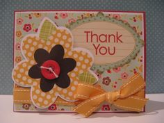 Courtney Lane Designs: Forever Young flower thank you card