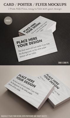 Free Card / Flyer mock-ups - Psd files in high res by ~Giallo86 on deviantART