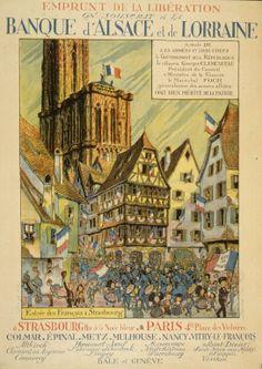 Hansi Emprunt de la Libération. On souscrit a la banque d'Alsace et de Lorraine...