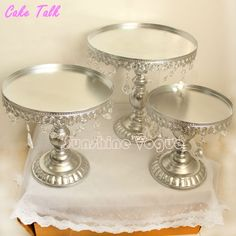 Cheap accessory geeks, Buy Quality decorative accessories vases directly from China decorative accessories for the home Suppliers: Metal iron silver cake stand set 8''/10''/12'' pendant charm cake accessory dessert tray Festive&even & Party Supplies supplier