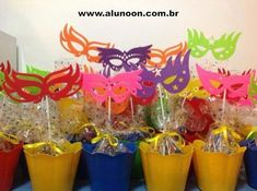 Rio Birthday Parties, Disney Birthday, 2nd Birthday, Birthday Ideas, Masquerade Decorations, Masquerade Party, Carnival Party Favors, Theme Carnaval, Paper Flower Patterns